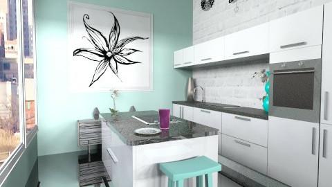 OldBrickModernFeel 3 - Modern - Kitchen  - by BriaFaith