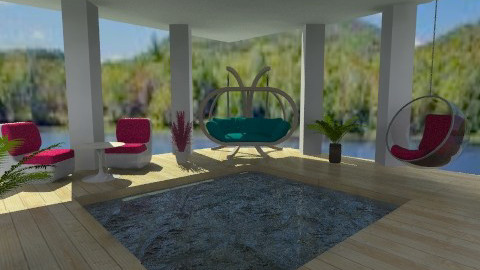 Pool Outside withCovering - Modern - Garden  - by mpy1999
