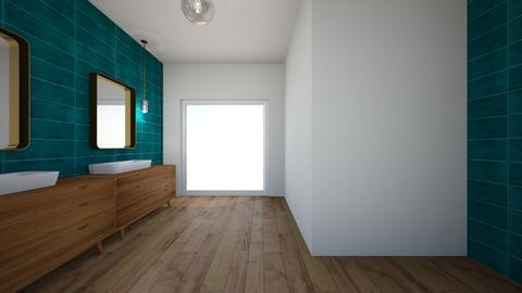 Turquoise - Bathroom - by Fernanda Porfirio