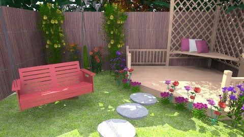 flowers in my garden - Garden - by PaperFlower