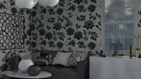 bianco e nero - Glamour - Living room  - by catcarla