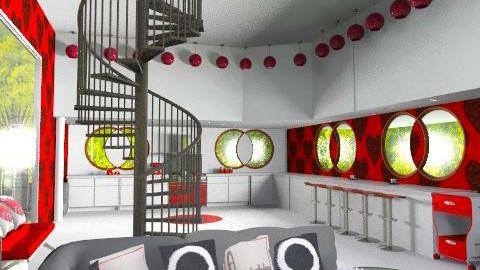 Open Plan Retro Living - Retro - Living room - by decorj