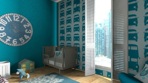 Blue nursery room - Kids room  - by marijnv99