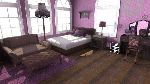 Purple  - Country - Bedroom - by 89dudes