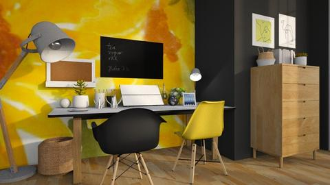 Yellow Working Space - Office  - by MiaM