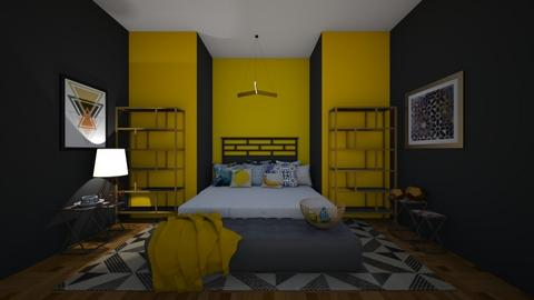 Geometric bedroom - Bedroom  - by Doraisthe_nameofmydoggo12345