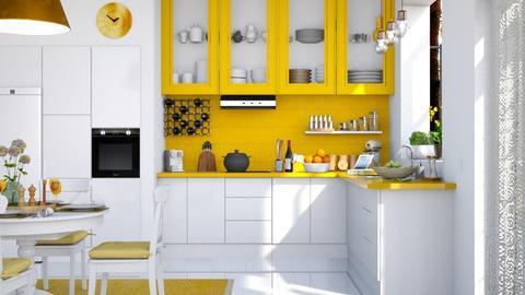 Yellow Kitchen - by lola loliitaaa