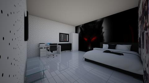 black wolf - Bedroom  - by 1D wolfgal