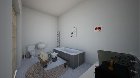 glam room and bathroom - Glamour - by deleted_1611612417_noadesign