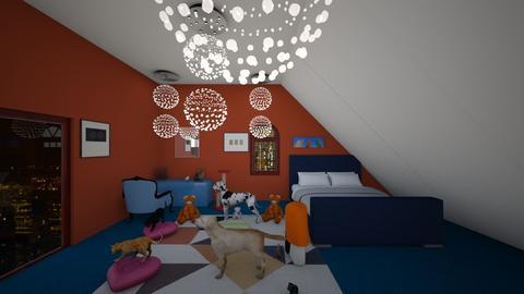 ORANGE AND BLUE - Modern - Bedroom - by Lani torres
