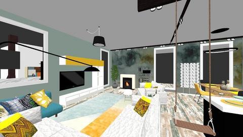 workshop 3 - Modern - Living room - by TusaTimea