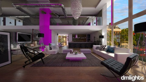 an imaginery loft - Modern - Living room - by DMLights-user-982918