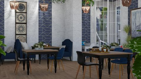 Farm To Table Cafe - Country - Dining room  - by NEVERQUITDESIGNIT