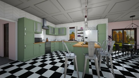 Large Kitchen - by clofland1