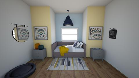 blue and yellow room - Eclectic - Kids room  - by katemarsh