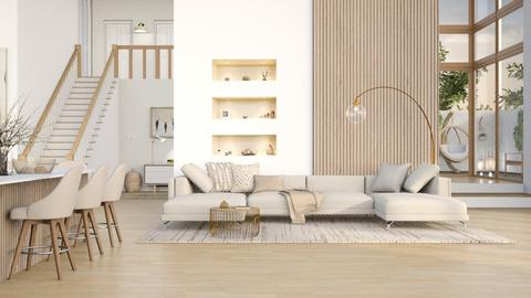Taupe tones - Living room  - by CallMePippa