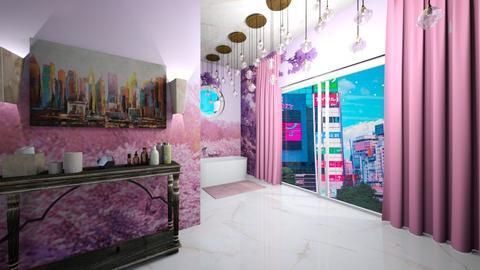 Cherry Blossom Bathroom - Bathroom  - by Avatarrr