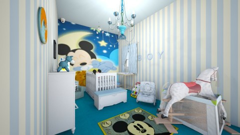 micky mouse - Kids room  - by Sharon Stokes