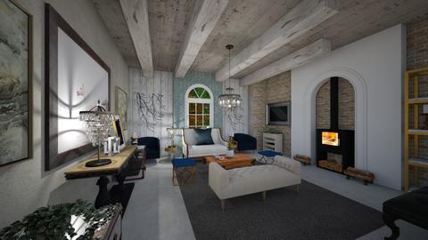 Living_Cosy_Interior_ - Living room - by Nikos Tsokos