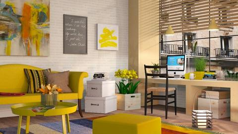 Yellow Working Space - Eclectic - Living room  - by Sally Simpson