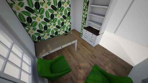 wallpaper office - Living room  - by trinasandberg