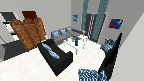 flatblu - Living room - by eng_radwan