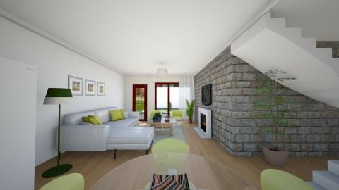 vintage  - Rustic - Living room  - by Tainaraa