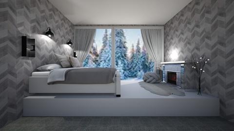 Winter attic bedroom - by Chardesigner