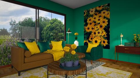 Sunflower  - Living room  - by sara1010