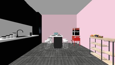 Modern spacious kitchen - Modern - Kitchen  - by emily3335553