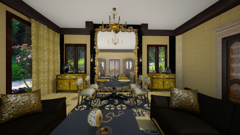 Gold-Black - Classic - Dining room  - by liling