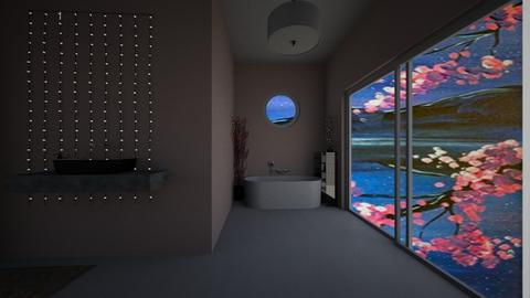 Cherry Blossom Bathroom - Bathroom  - by stemarub