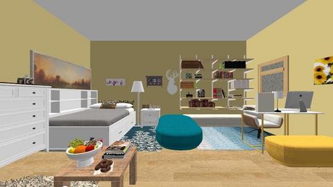 my bedroom - Bedroom  - by Golli09