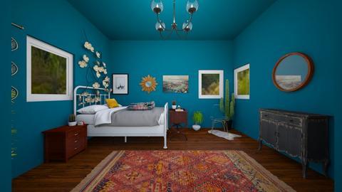 cozy modern bedroom - Bedroom  - by Stella H