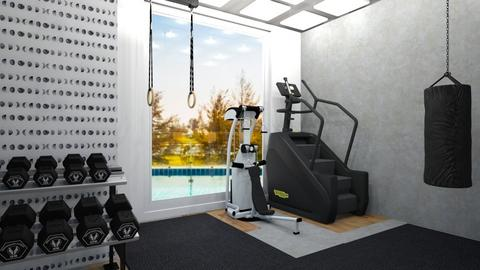 Black and White Gym - Modern - by aestheticXdesigns