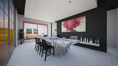 Black - Minimal - Dining room  - by norkis