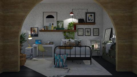 aqua gold - Bedroom  - by i123qwerty