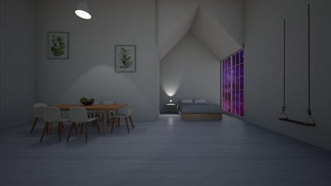 yatak ve yemek oda - by Yudum Kutlu