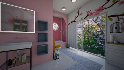 Cherry Blossom Bathroom - Bathroom  - by lusfale