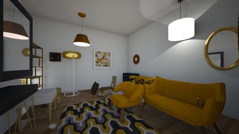 black and gold room - Bedroom  - by aziegler
