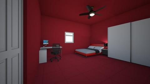 child red room - Bedroom  - by CheekyDD
