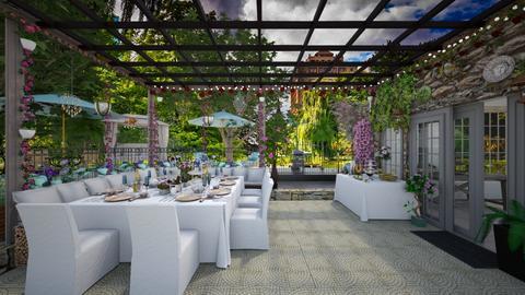Garden Bridal Tea Party - Garden  - by  krc60