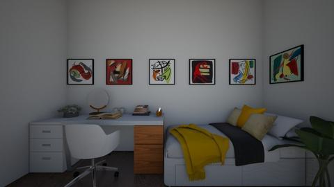 Artsy Dorm Room - Retro - Bedroom  - by Rinnah02