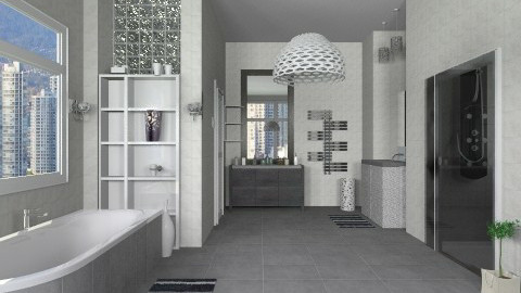 Grey - Modern - Bathroom  - by milyca8