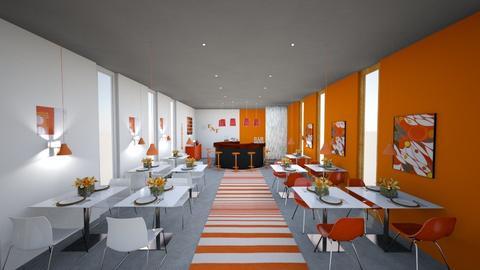 White_Orange_Restaurant - by MyDesignIdeas