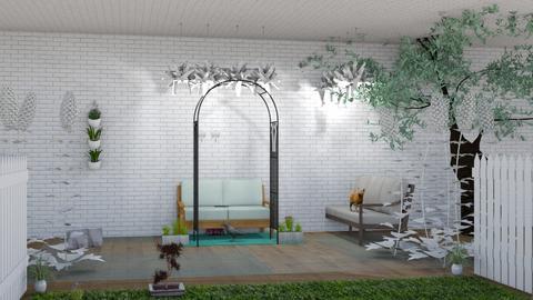 living patio nture - by Salvadorena1