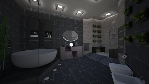 Grey Bathroom - Bathroom  - by CassW