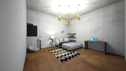 Black and Gold - Modern - Bedroom  - by greekgirl37
