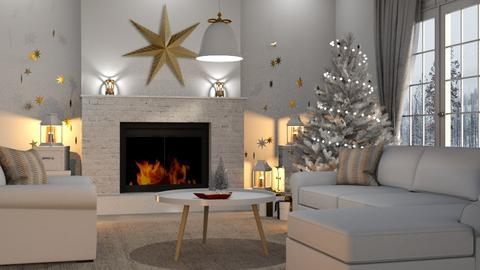 Christmas Stars - Living room  - by GraceKathryn