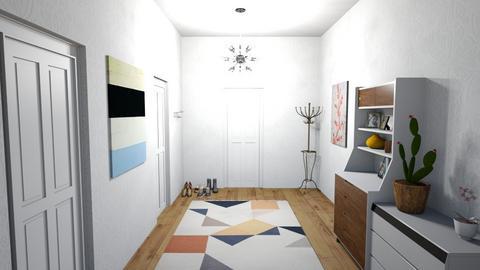 hallway - Modern - by larsen lewan
